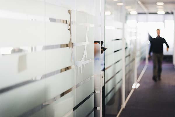 decorative glass window film in office