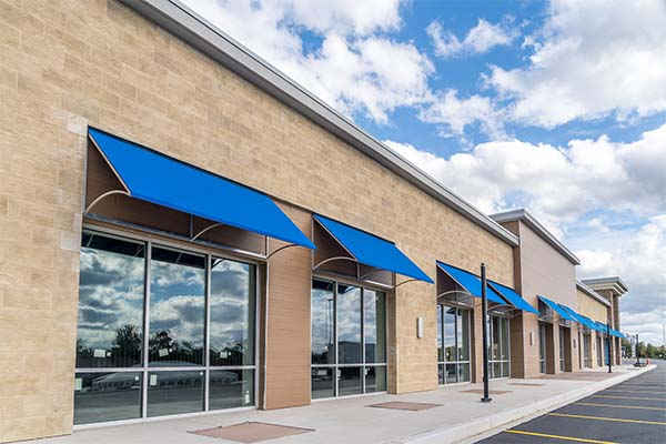 3M safety and security window film on commercial building