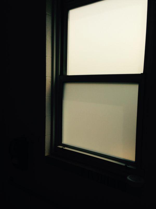 decorative and privacy window film on window