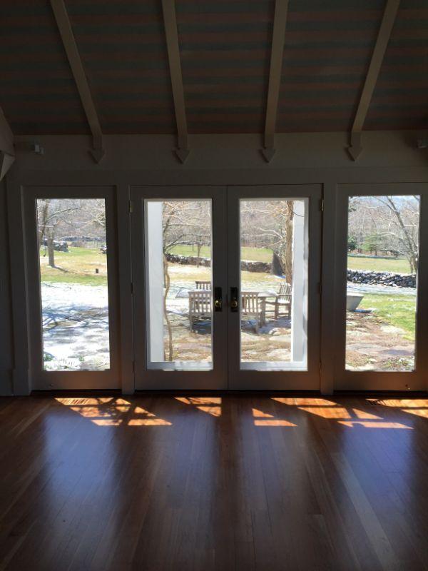 glass doors and windows with prestige window film
