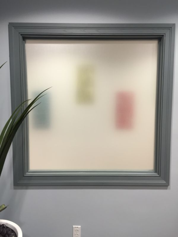 frosted decorative and privacy window film