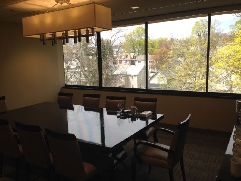 night vision window film installed on conference room windows