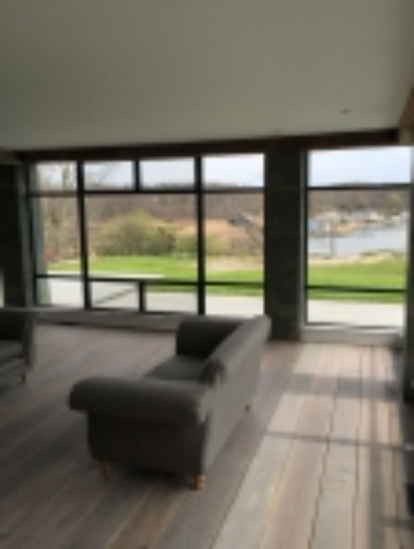 large windows in living room