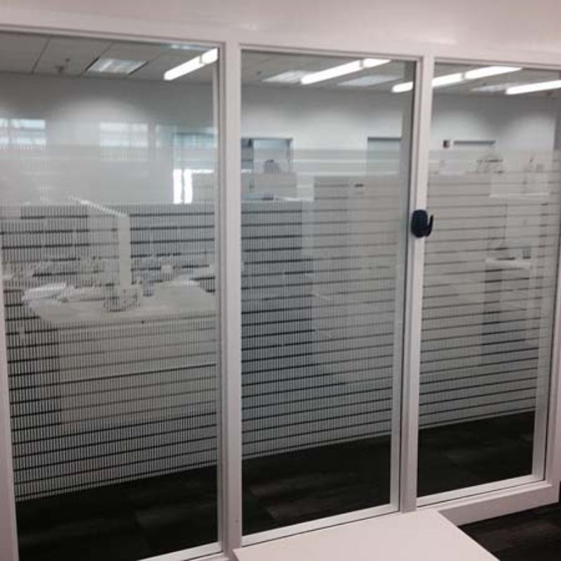 3M decorative and privacy window film commercial installation
