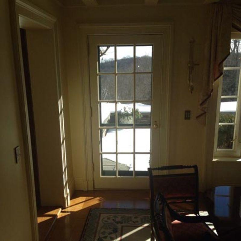 window film installation on door