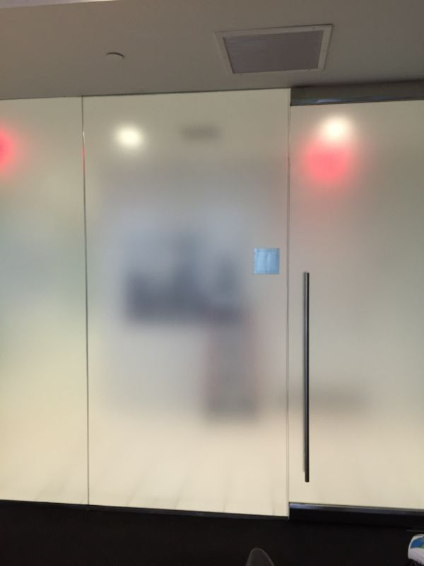 frosted decorative window film on glass door