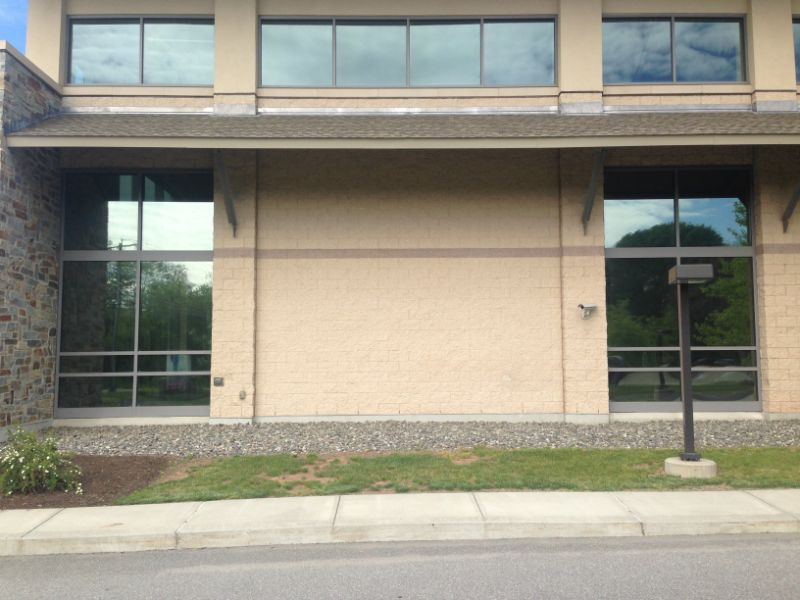 commercial window film application