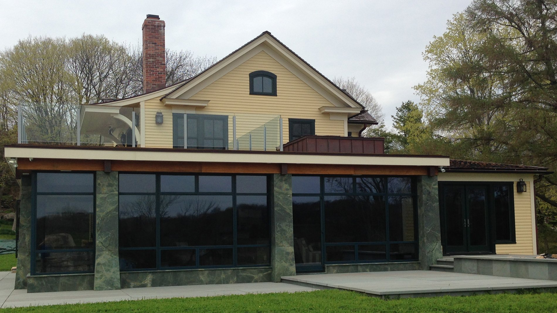 exterior of a home window film installation